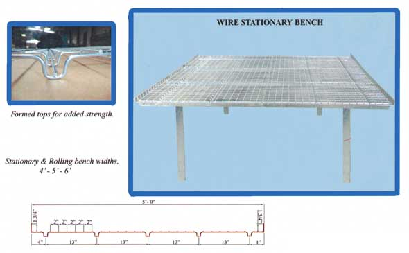 Details of stationary bench design