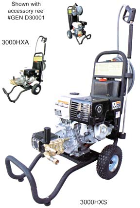 Cold Water Cart Mounted Gas Driven Model Pressure Sprayers/Cleaners