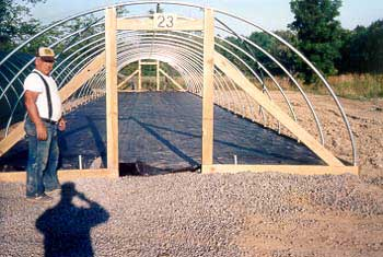 greenhouse structure being built on customer site