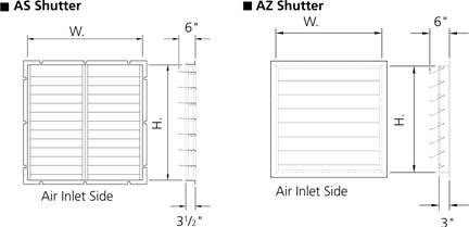 AS and AZ fan shutter details