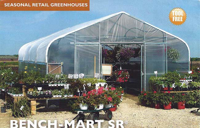 Bench Mart Sr. seasonal greenhouse