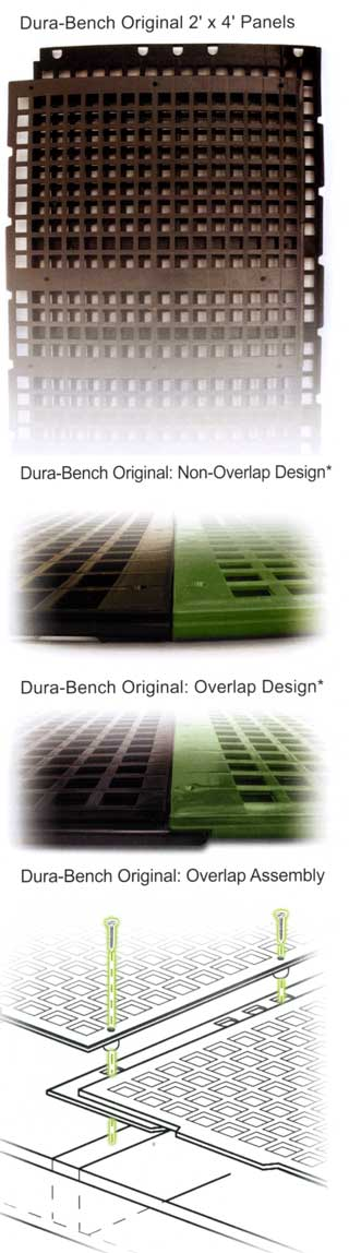 Dura-Bench Original non-overlap panel design and assembly