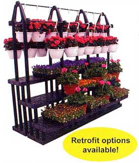 Tiered wall displays