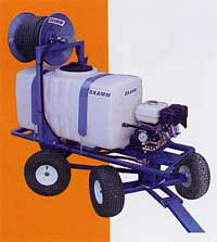 Gas powered sprayer