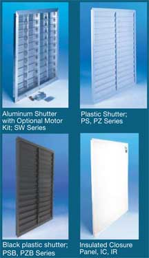 Fan shutter and panel poroducts
