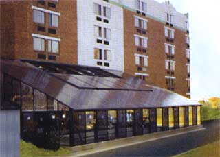 Polycarbonate cover for bus stop