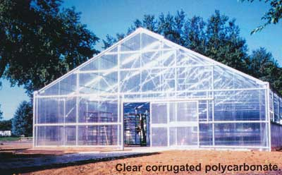 Corrugated polycarbonate house