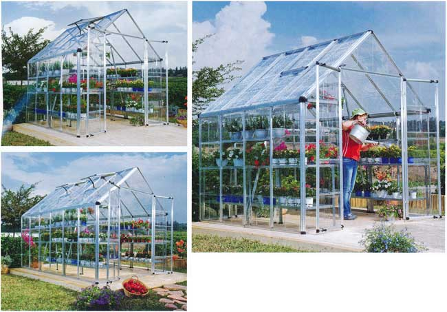 Snap and Grow 8x8 hobby greenhouse