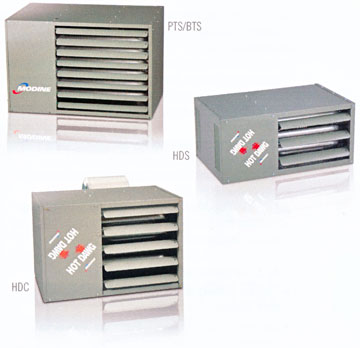 Modine gas-fired unit heaters with separated combustion