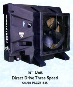 "16"" Direct Drive Three Speed Port-a-Cool"