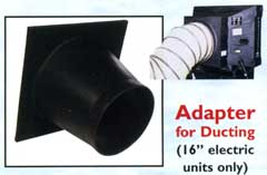 "Adapter for ducting for 16"" electric Port-A-Cool"