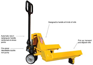 Details of roll nd reel pallet jack