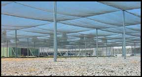 Cable Frame fixed roof shade structure