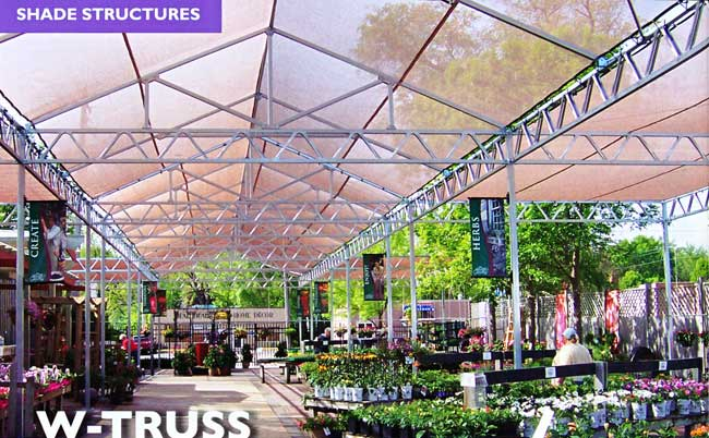 W-Truss Shade Structure