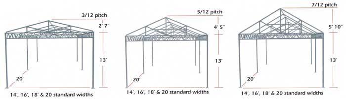 More W-Truss shade structure blueprints