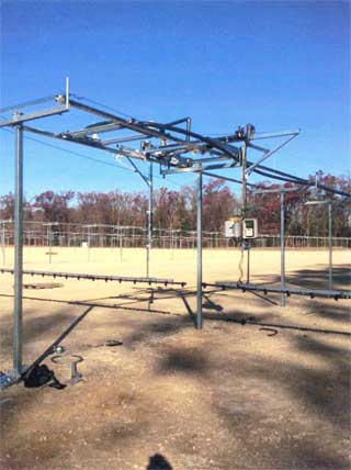 Outdoor T-Rail, allows unrestricted access across your entire field
