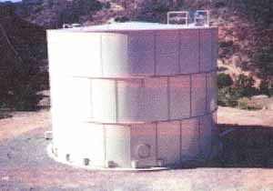 Water and waste water storage tanks